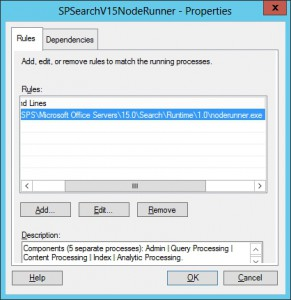 WSRM SharePoint Search V15 NodeRunner