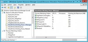 WSRM SharePoint Working Hours