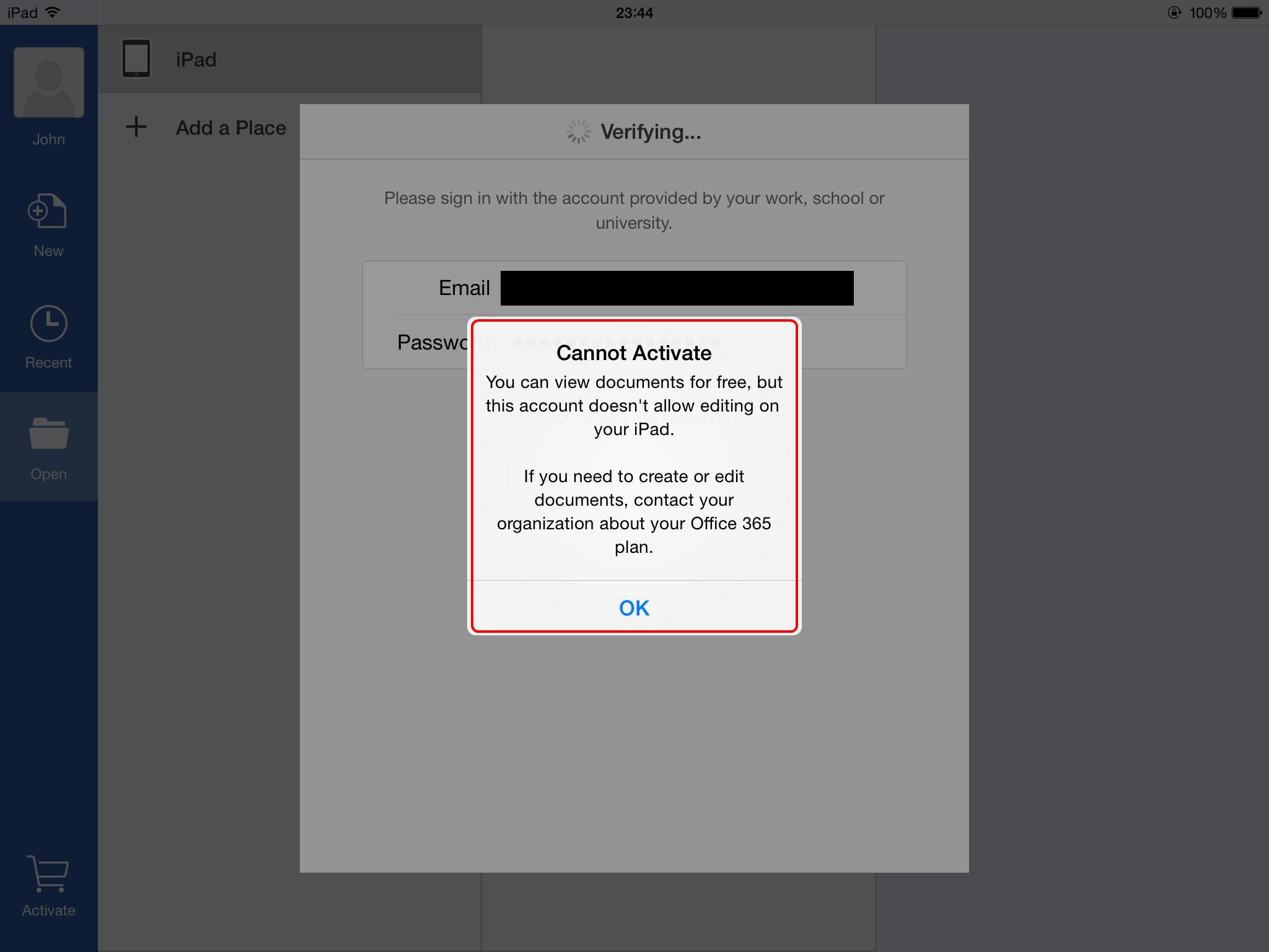 Collaborate using Microsoft Word for iPad app (on-premises