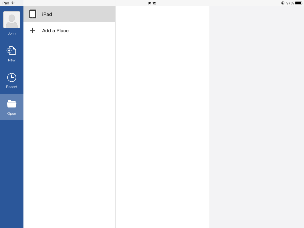 how to create a document on ipad