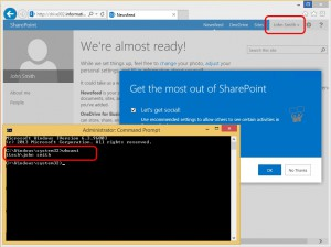 Trigger the OneDrive personal site creation.
