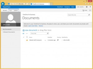 The personal site (OneDrive).
