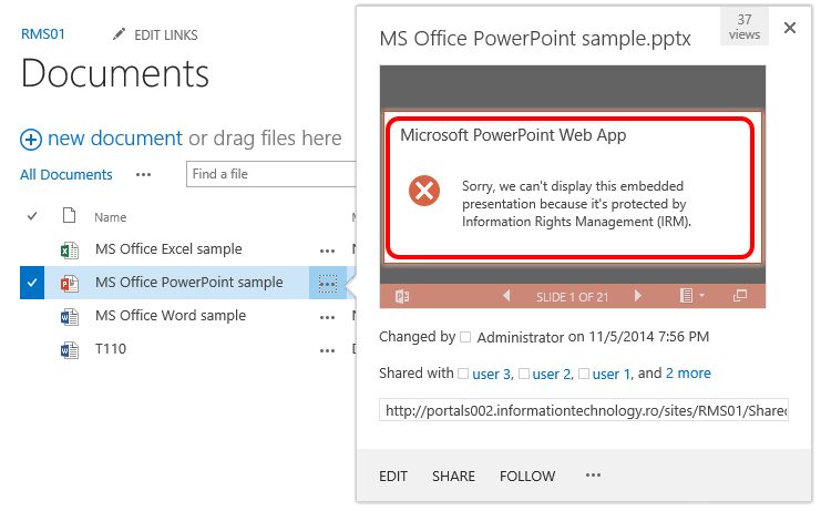 Classified information and mobile devices challenges with SharePoint Office Web Apps AD RMS 01