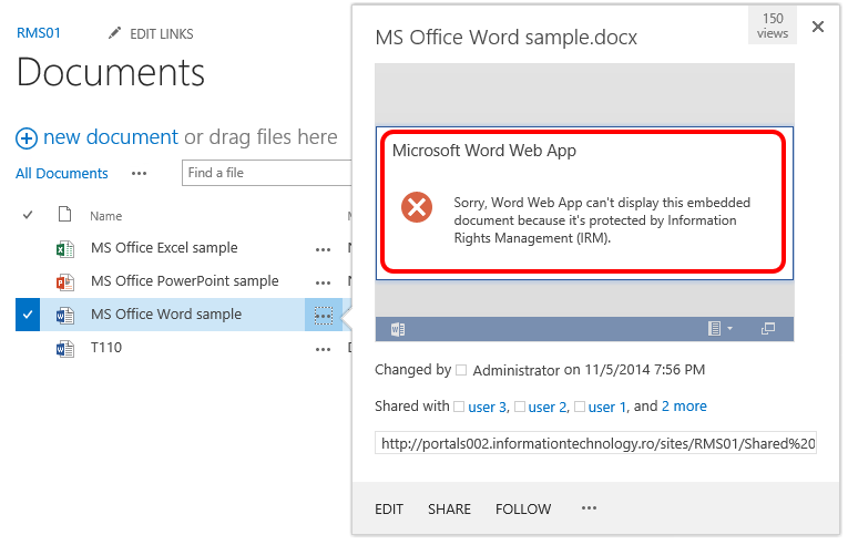 Classified information and mobile devices challenges with SharePoint Office Web Apps AD RMS 02