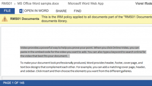 Classified information and mobile devices challenges with SharePoint Office Web Apps AD RMS 21