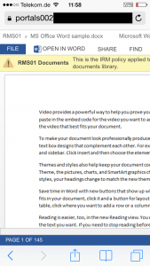 Classified information and mobile devices challenges with SharePoint Office Web Apps AD RMS 22